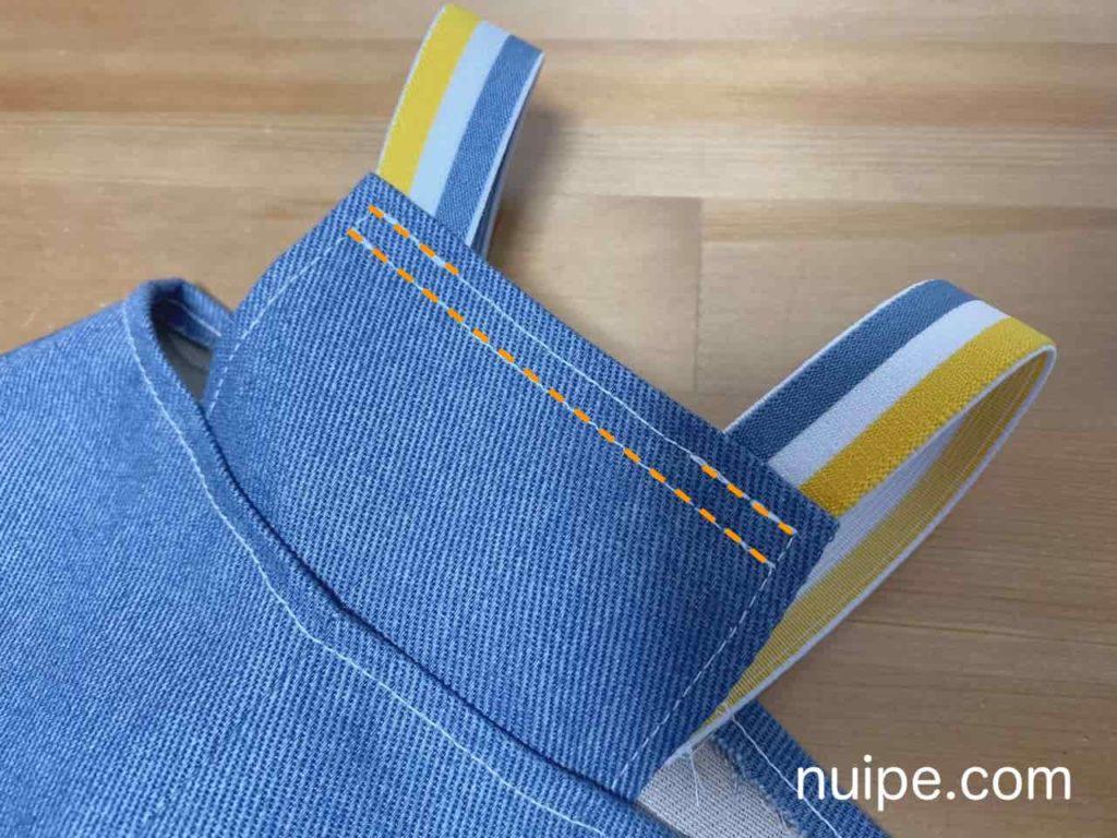 ゴムを縫う
