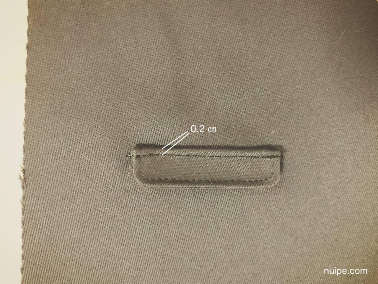 フラップ縫い