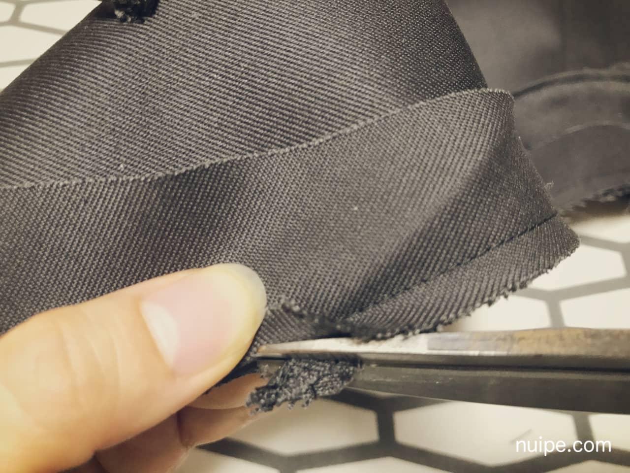 前端縫い代カット