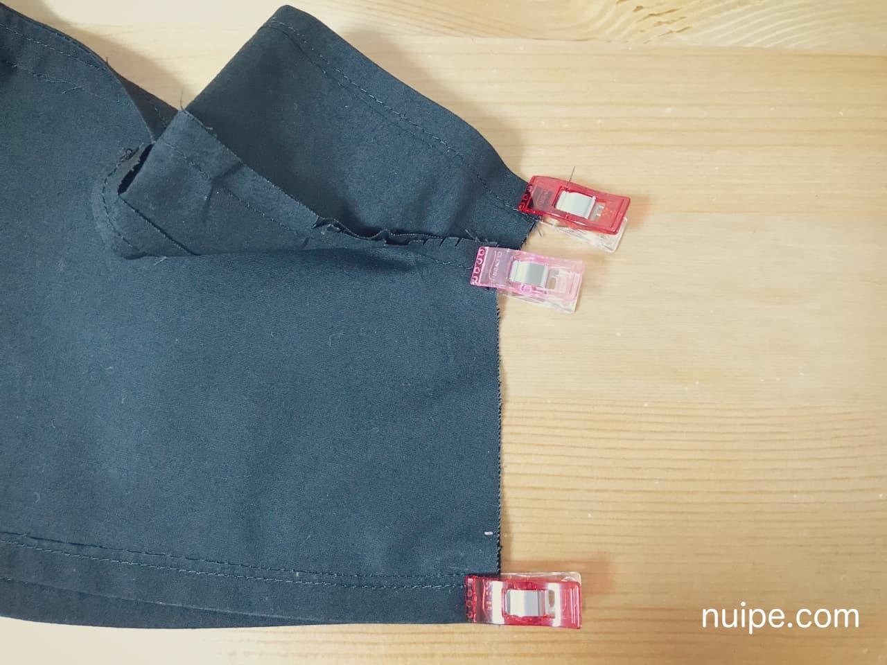 ダッフィー服作り方袖下脇縫い