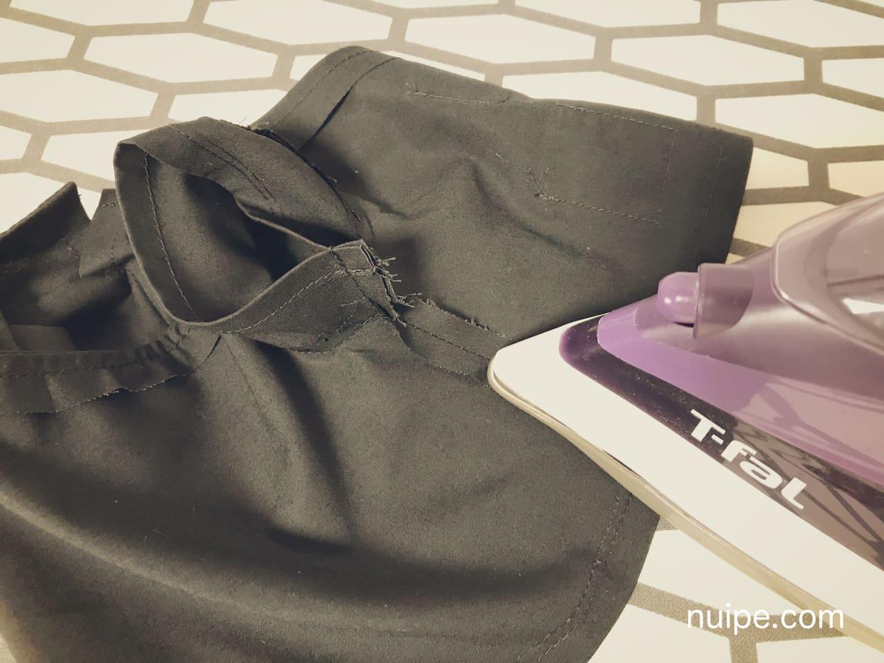 ダッフィー服作り方袖下脇アイロン