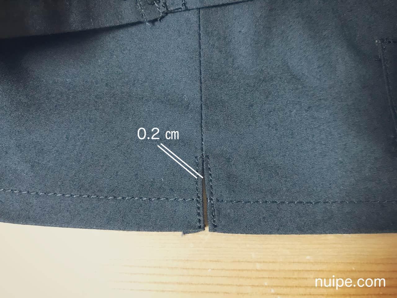 ダッフィー服作り方スリット縫い