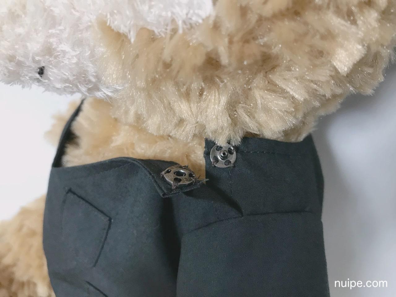 ダッフィーの服作り方スナップボタン