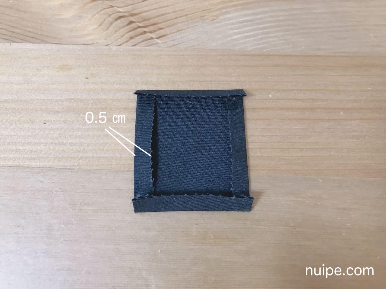 ダッフィー服作り方ポケットアイロン