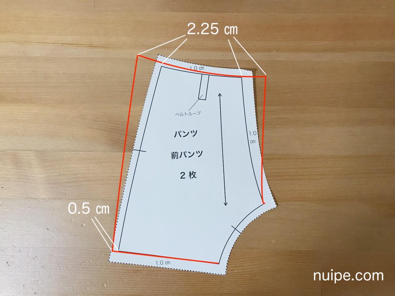 ダッフィー服作り方型紙