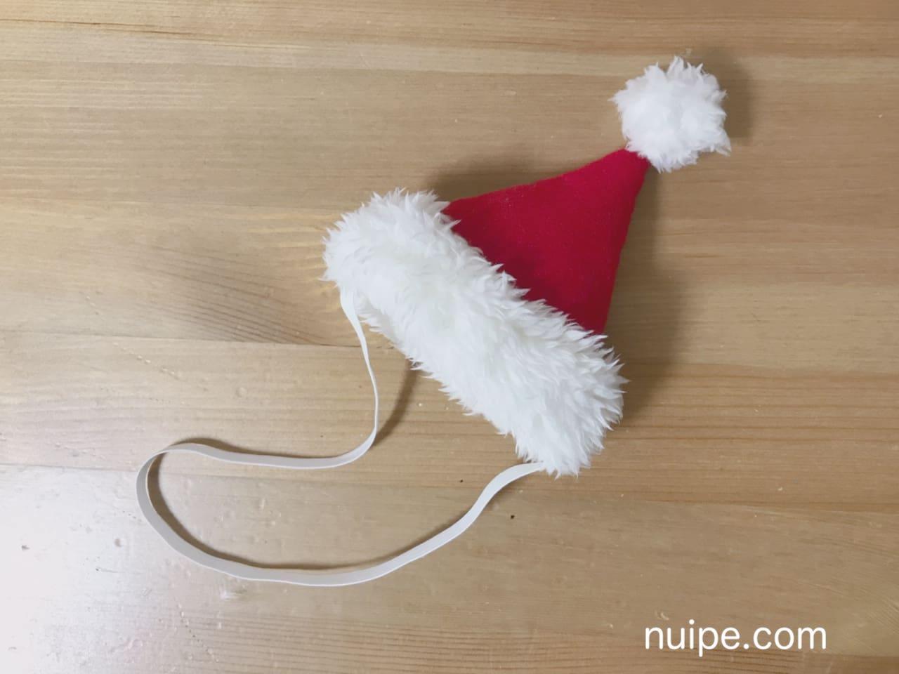 ダッフィーサンタ帽子作り方