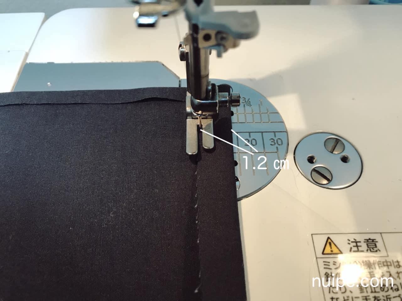 ウエスト縫い