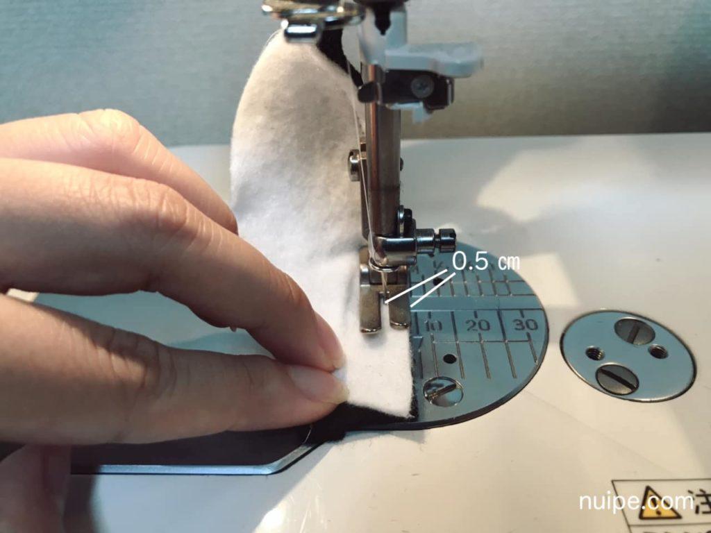 ダッフィースニーカー切り替え縫い