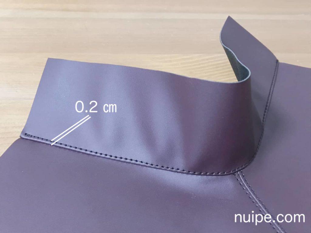 ブーツ縫い