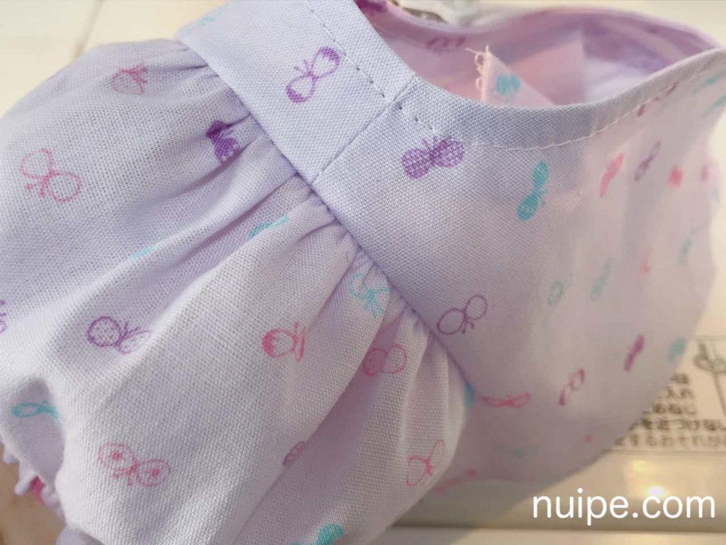袖と身頃を縫う