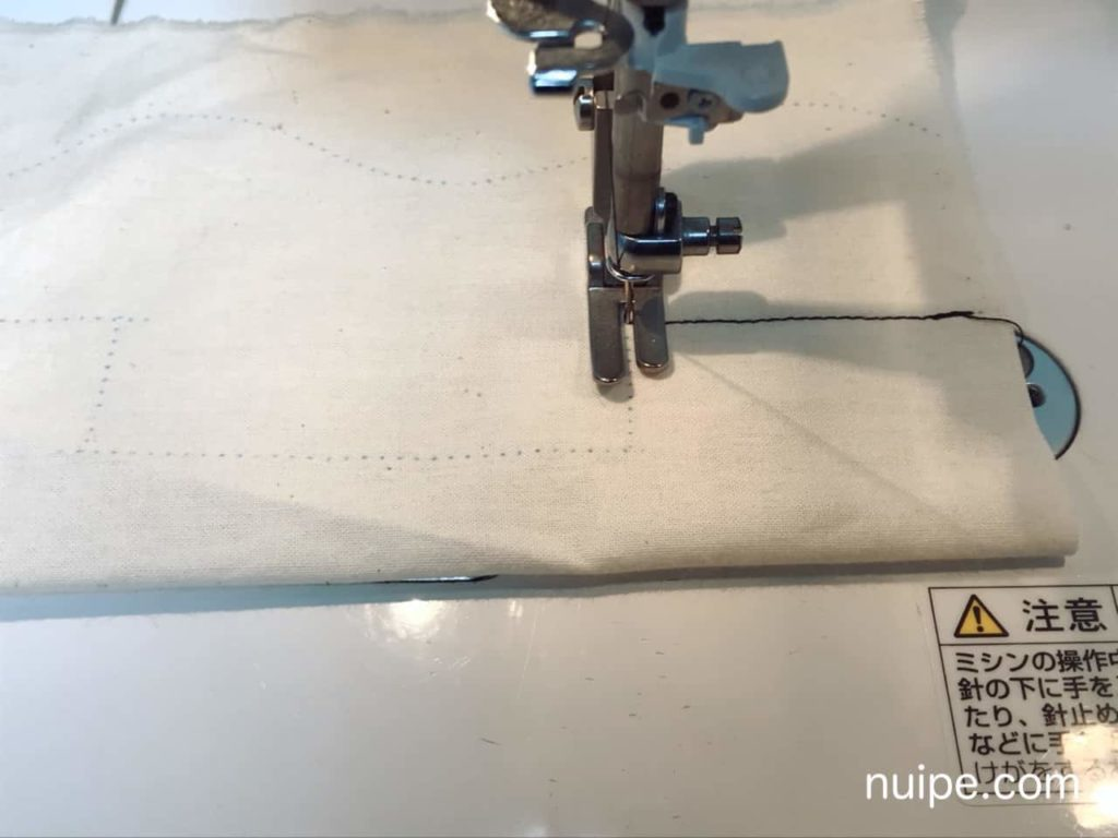 ミシン練習角縫い