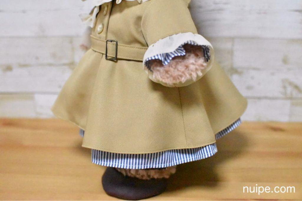 シェリーメイのトレンチコートのフレアスカート