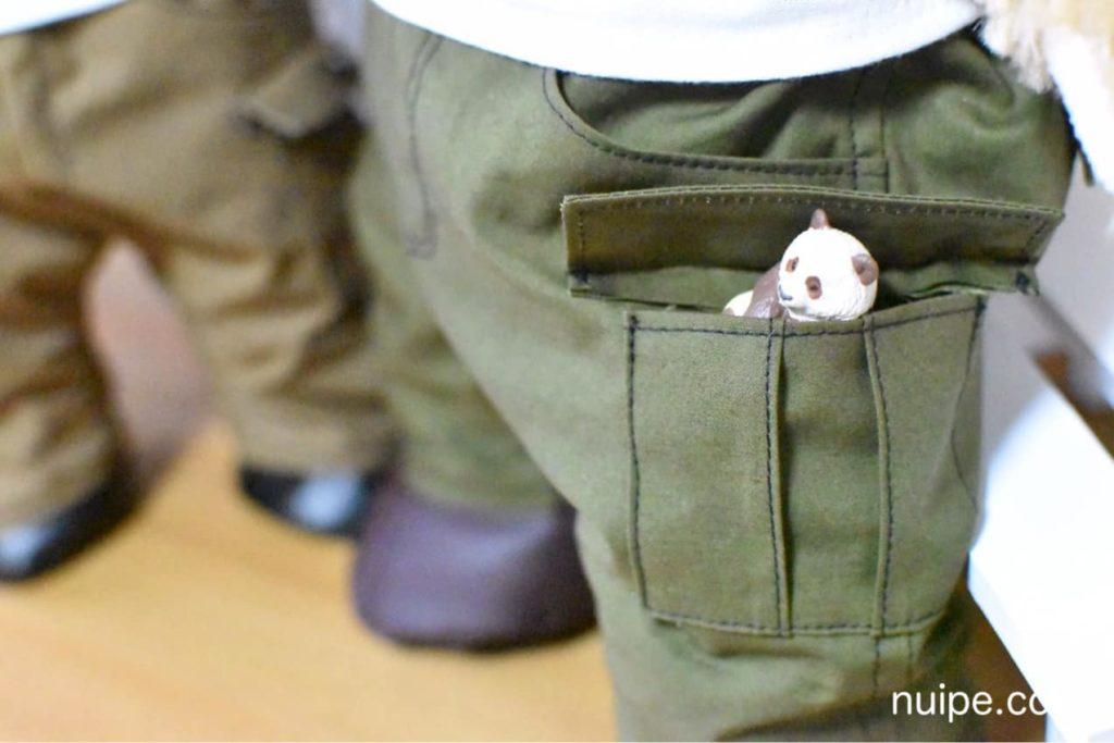 ポケットにひそむパンダ