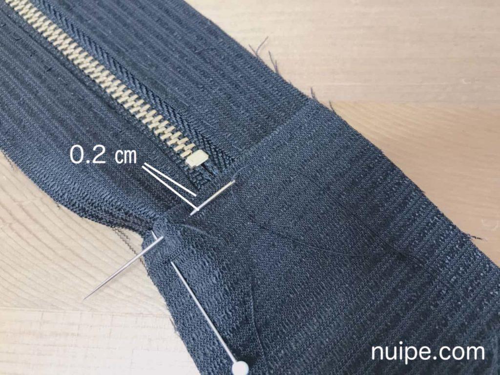 側面とマチを縫う