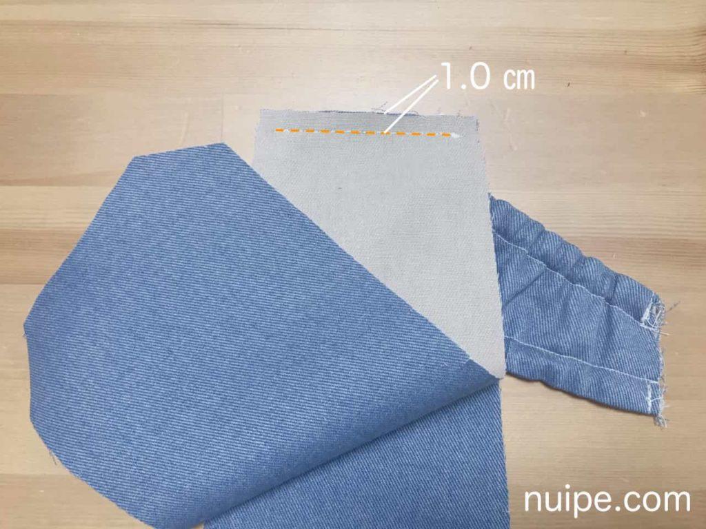 パンツと身頃を縫う