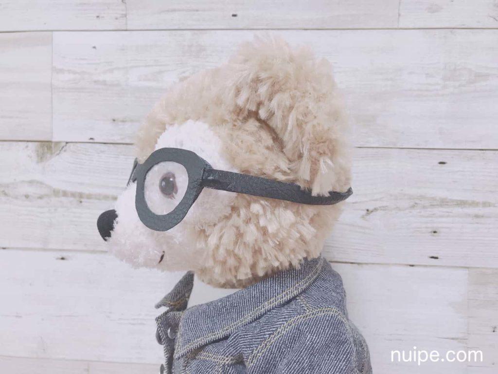 メガネをかけているダッフィー横