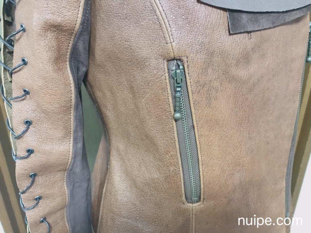 ライダースのファスナーポケット