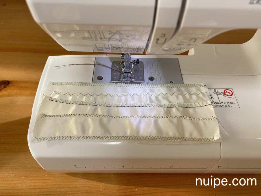 ジグザグ縫いと裁ち目かがり