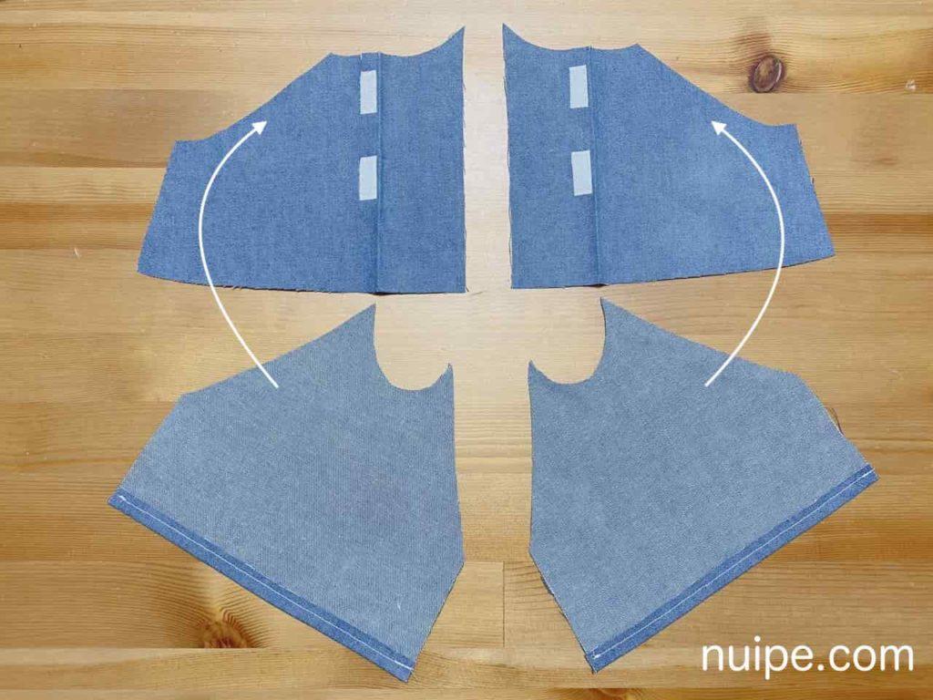 前袖を縫う