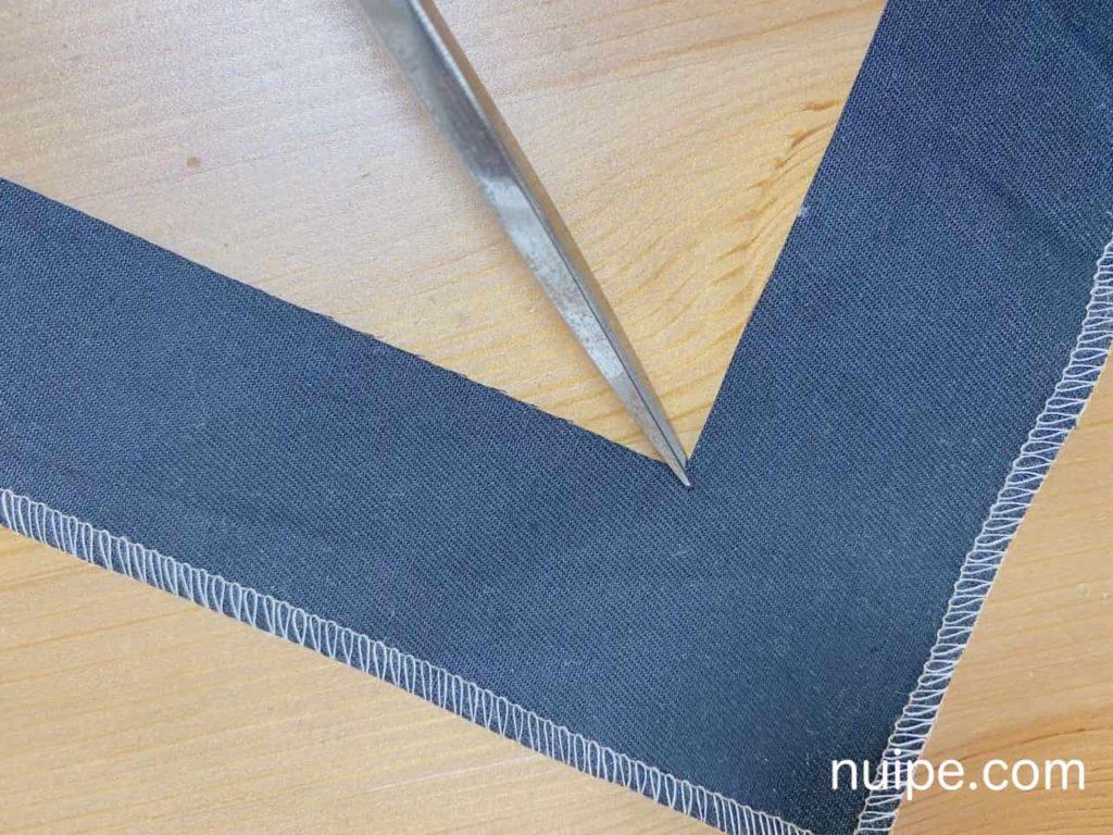 内角の縫い方のコツ