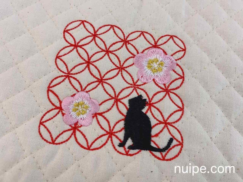 ジャノメJI521で縫った刺しゅう