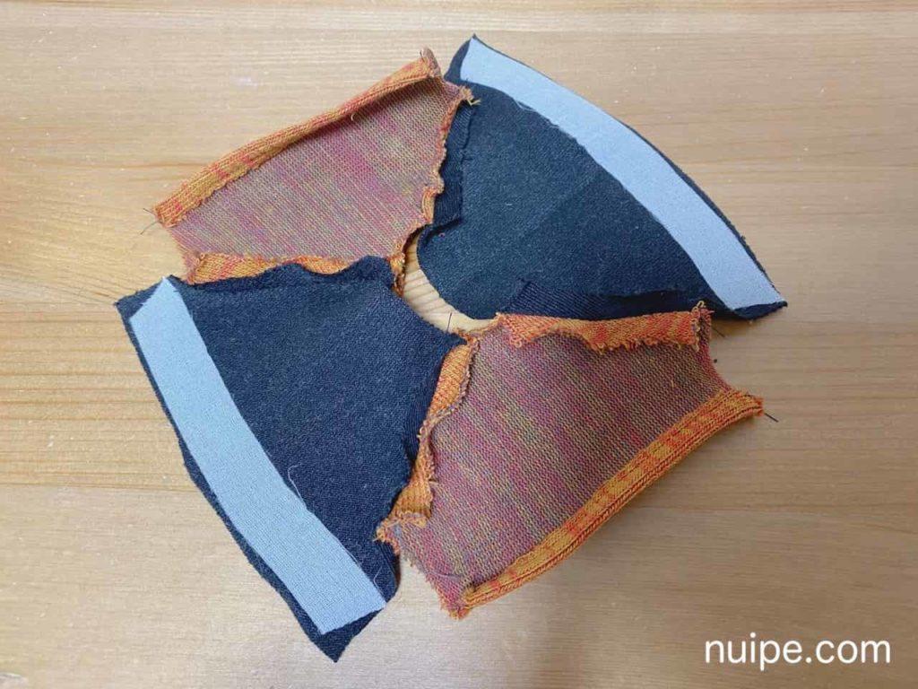身頃と袖を縫う