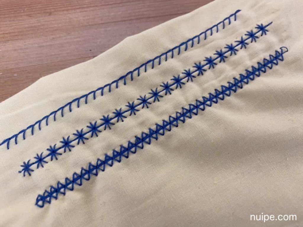 実用縫いの模様縫い