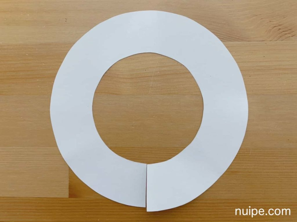 円フリルの型紙