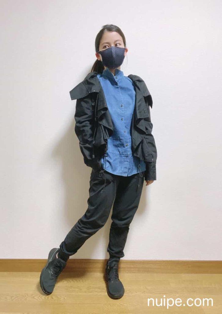 デニムオンデニムのマスク