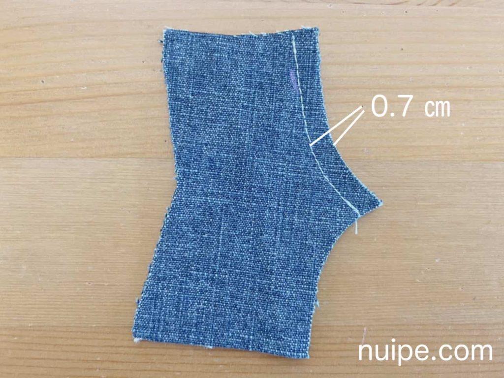 前パンツを縫う