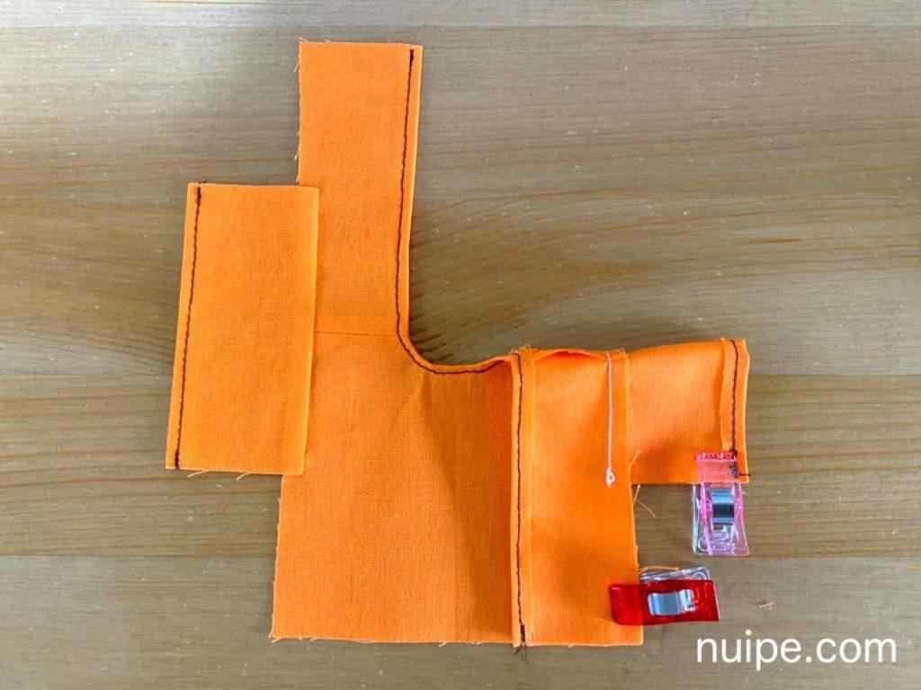 袖とわきを縫う