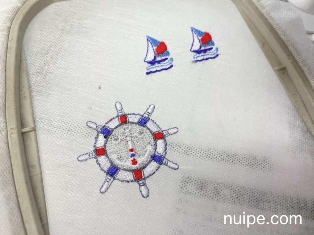完成した刺繍