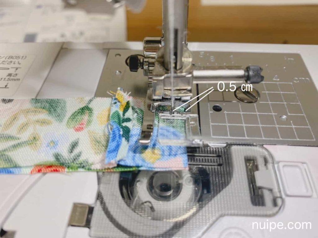 普通生地縫い