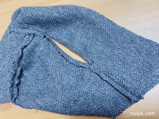 縫い代をわる