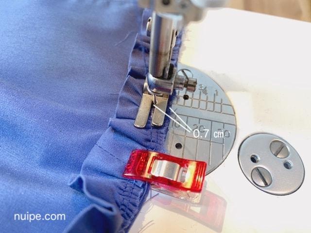 フリルを縫う
