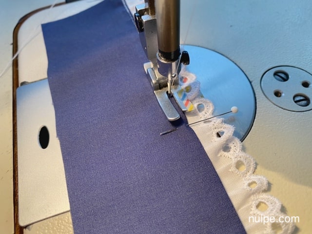 すそレースの縫い方